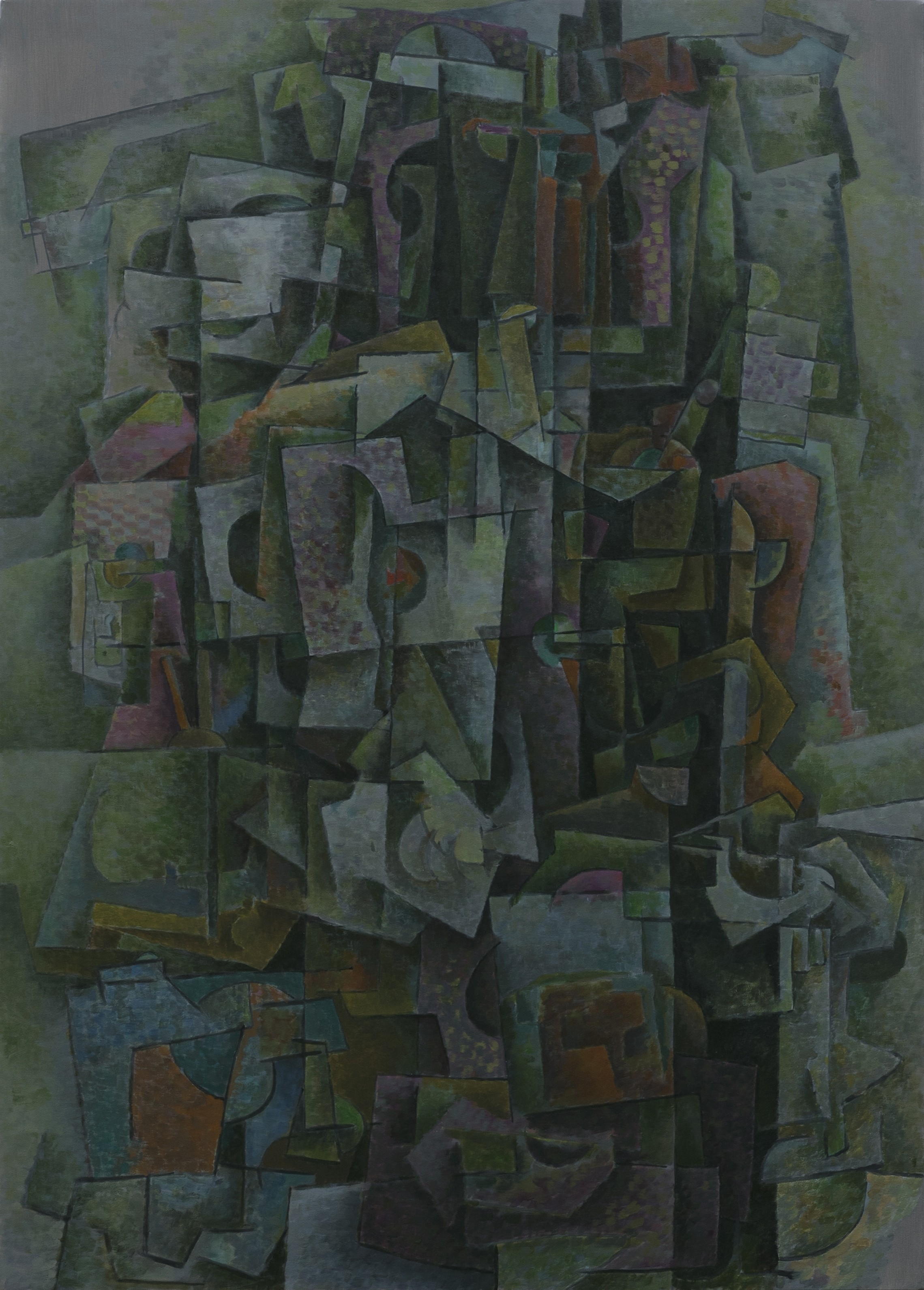 Seated Figure in Green